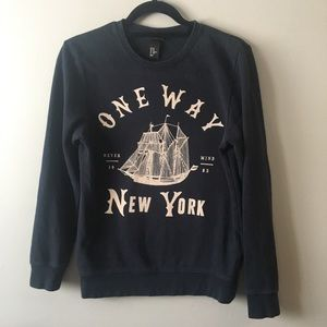 3/$30 H&M New York navy blue pullover sweater